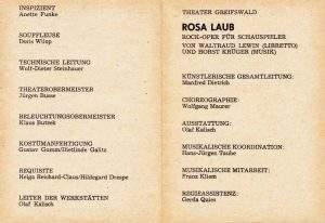 Rosa Laub Greifswald Besetzung