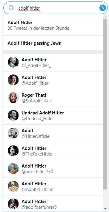 Nutzername Adolf Hitler