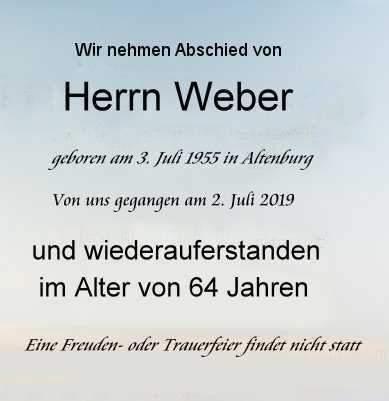 Frank Weber Abschied Auferstehung