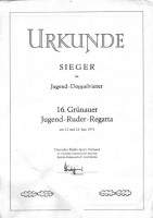 Frank Weber Urkunde Ruderregatta