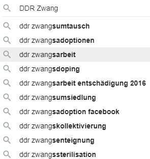 DDR Zwang und Terror