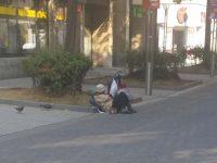 Obdachloser in Krefeld